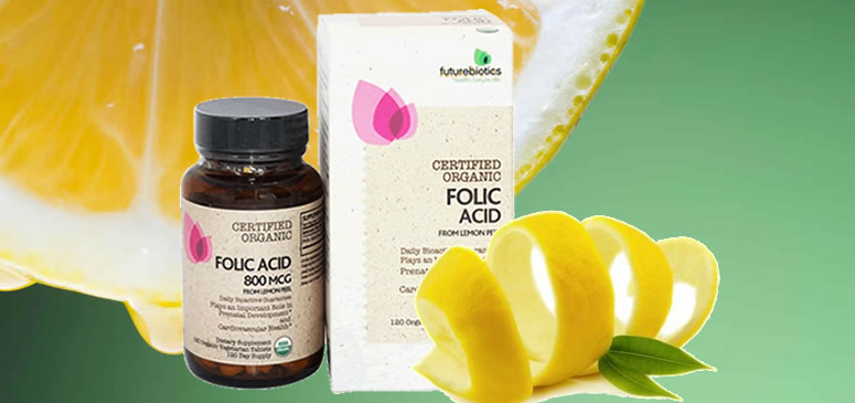Folic acid from the lemon peel iherb